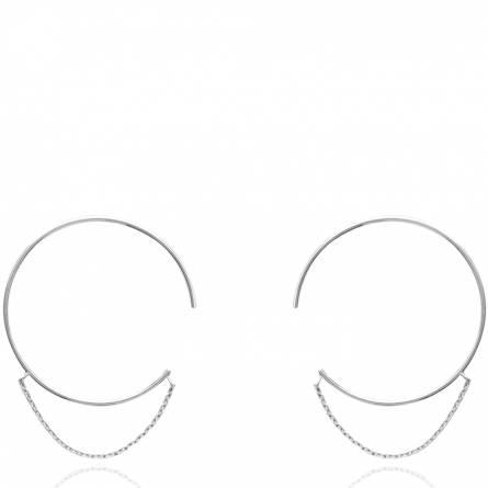 Boucles d'oreilles femme argent Nandou créoles