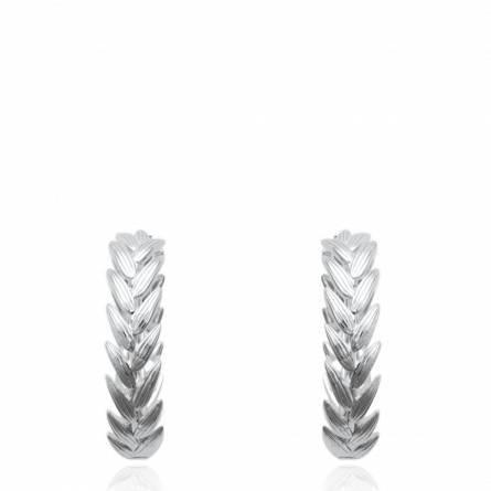 Boucles d'oreilles femme argent Pesela ronde