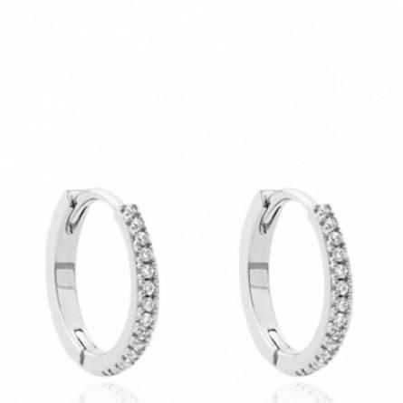 Boucles d'oreilles femme argent Satena créoles