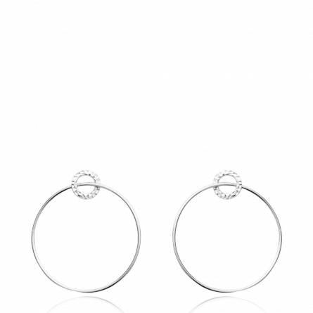 Boucles d'oreilles femme argent Tedina ronde