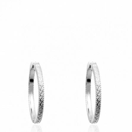Boucles d'oreilles femme argent Teli créoles