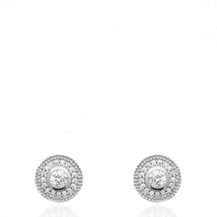 Boucles d'oreilles femme argent Temya ronde