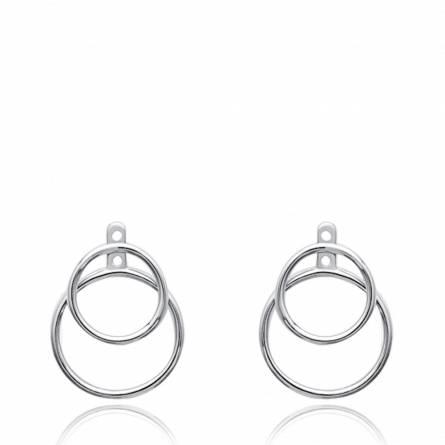Boucles d'oreilles femme argent Tess ronde