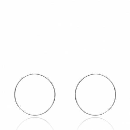 Boucles d'oreilles femme argent Tessa ronde