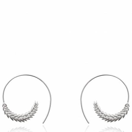 Boucles d'oreilles femme argent Trigo ronde