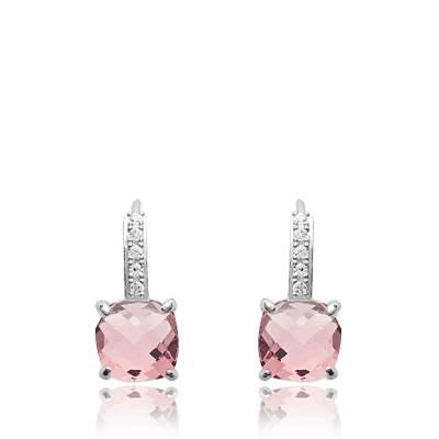 Boucles d'oreilles femme argent Valdenar rose
