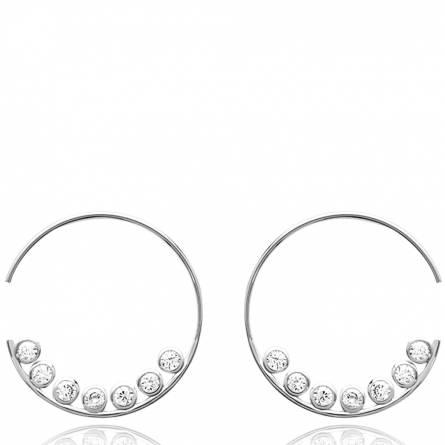 Boucles d'oreilles femme argent Vasco créoles