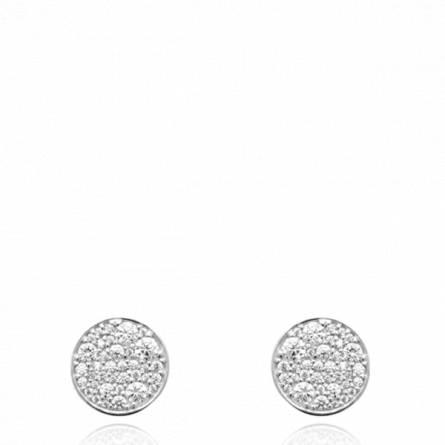 Boucles d'oreilles femme argent Yslene ronde