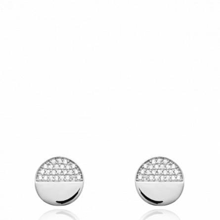 Boucles d'oreilles femme argent Ywann ronde