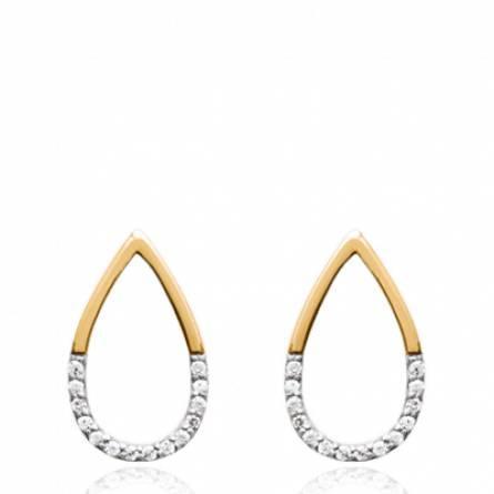 Boucles d'oreilles femme Bemicia arrondie