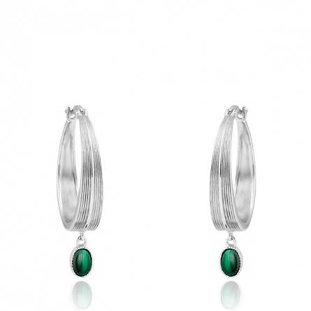 Boucles d'oreilles femme Breena ronde vert