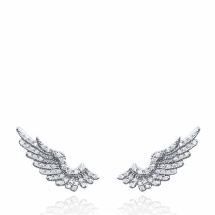 Boucles d'oreilles femme Darya ange gris