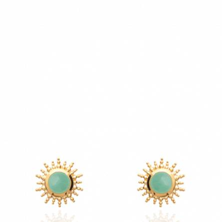 Boucles d'oreilles femme Deliana Aventurine vert