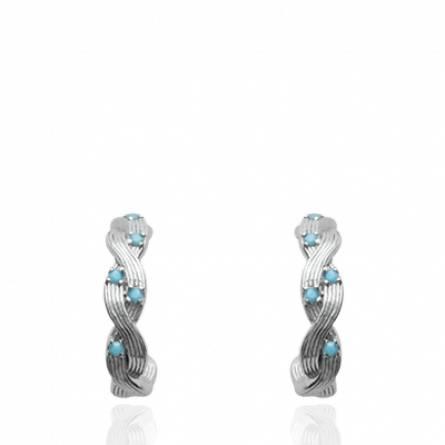 Boucles d'oreilles femme Despina ronde gris