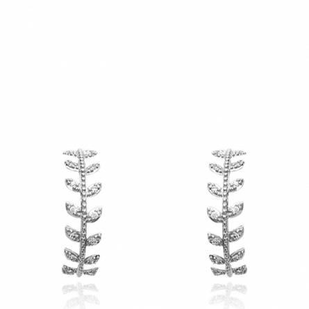 Boucles d'oreilles femme Despoina ronde gris