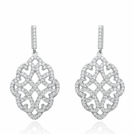 Boucles d'oreilles femme Diamond dentelle gris