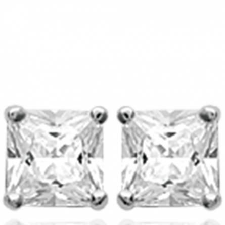 Boucles d'oreilles femme Divya carrée gris