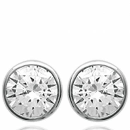 Boucles d'oreilles femme Dominica gris