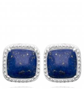 Boucles d'oreilles femme Galaxi carrée bleu