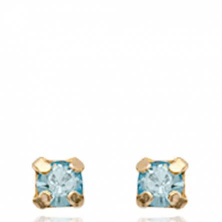 Boucles d'oreilles femme Marsha carrée bleu