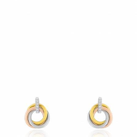 Boucles d'oreilles femme Periella ronde