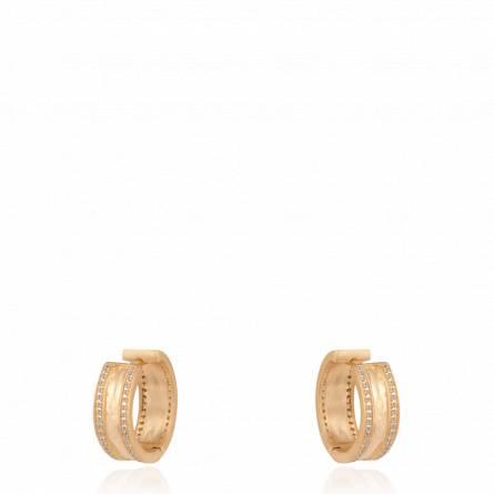 Boucles d'oreilles femme pierre Aghane créoles