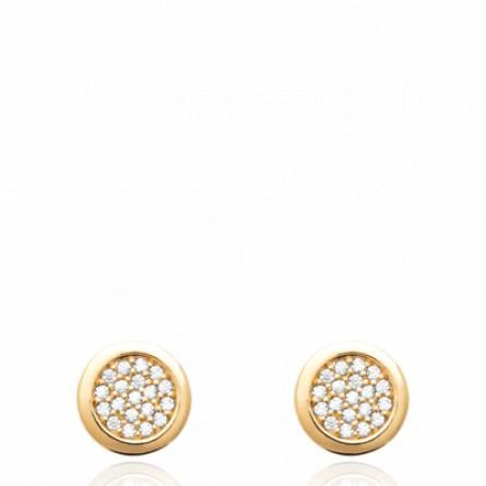 Boucles d'oreilles femme pierre Asediane ronde