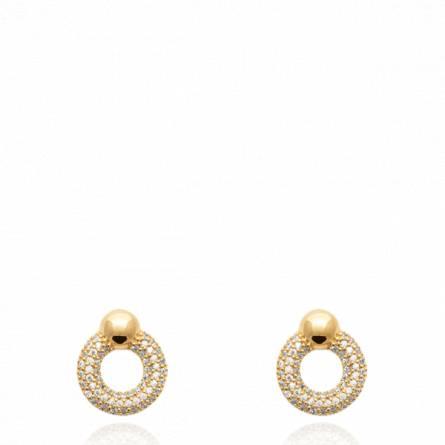 Boucles d'oreilles femme pierre Bintily ronde