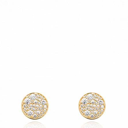 Boucles d'oreilles femme pierre Chaya ronde
