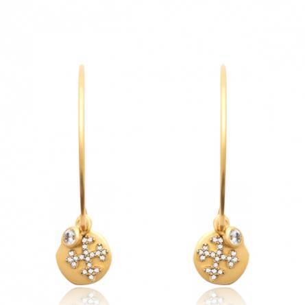 Boucles d'oreilles femme pierre Dehina ronde