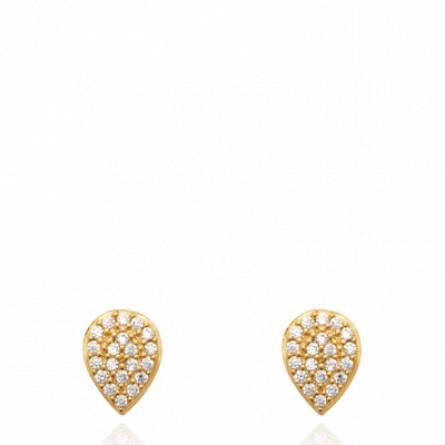 Boucles d'oreilles femme pierre Domeria goutte
