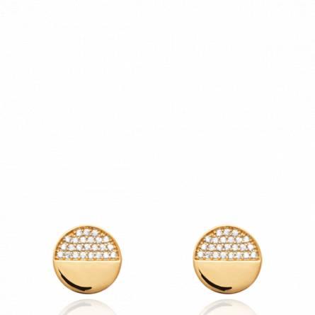 Boucles d'oreilles femme pierre Guisepina ronde