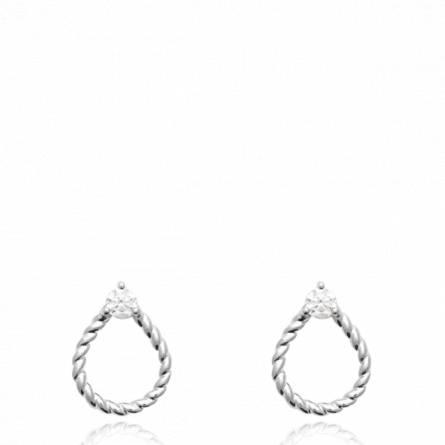 Boucles d'oreilles femme pierre Haniffa
