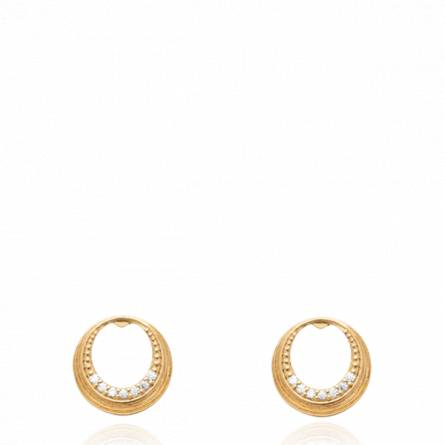 Boucles d'oreilles femme pierre Lidine ronde