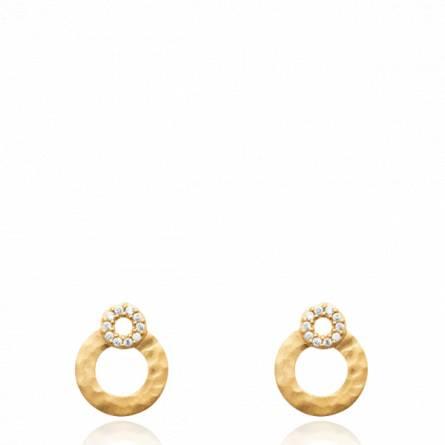 Boucles d'oreilles femme pierre Loisse ronde