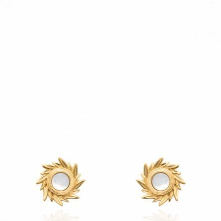 Boucles d'oreilles femme pierre Nesta blanc