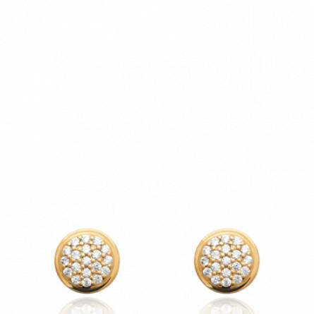 Boucles d'oreilles femme pierre Remara ronde