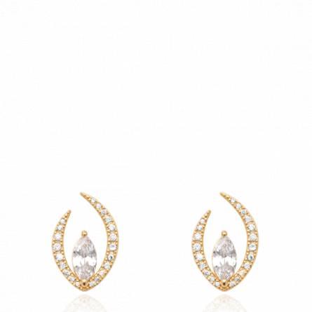 Boucles d'oreilles femme pierre Vuksan