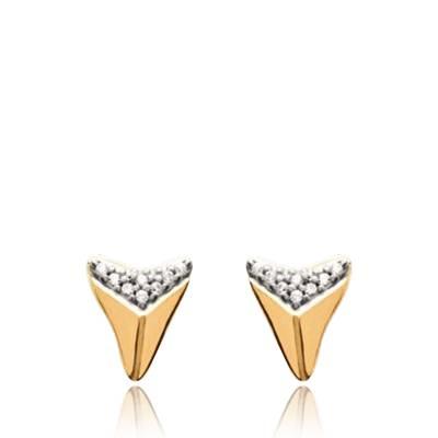 Boucles d'oreilles femme plaqué or Abel triangle