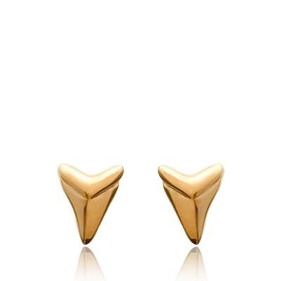 Boucles d'oreilles femme plaqué or Abondance triangle