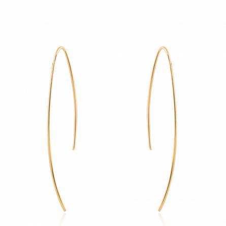 Boucles d'oreilles femme plaqué or Adice