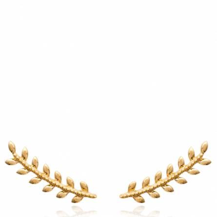 Boucles d'oreilles femme plaqué or Agleda