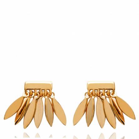 Boucles d'oreilles femme plaqué or Akya