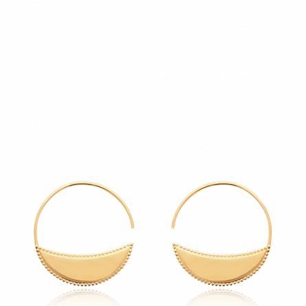 Boucles d'oreilles femme plaqué or Alethe ronde