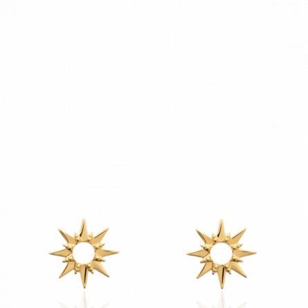Boucles d'oreilles femme plaqué or Alion