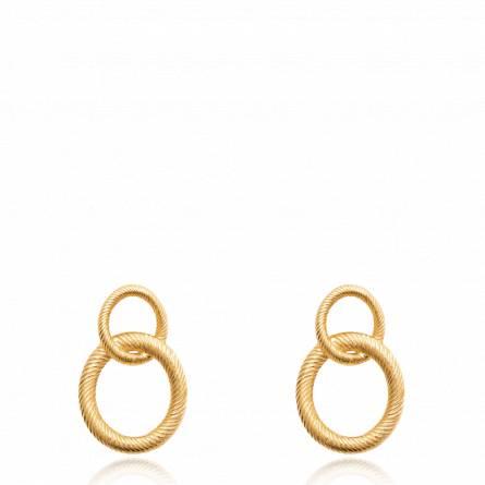 Boucles d'oreilles femme plaqué or Alsiena ronde