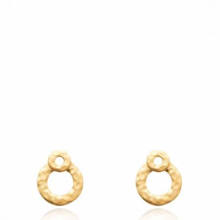 Boucles d'oreilles femme plaqué or Anabin ronde