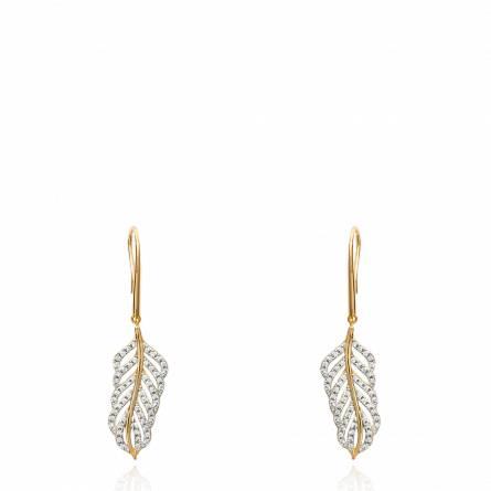Boucles d'oreilles femme plaqué or Anthra