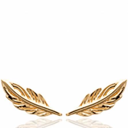 Boucles d'oreilles femme plaqué or Antsa