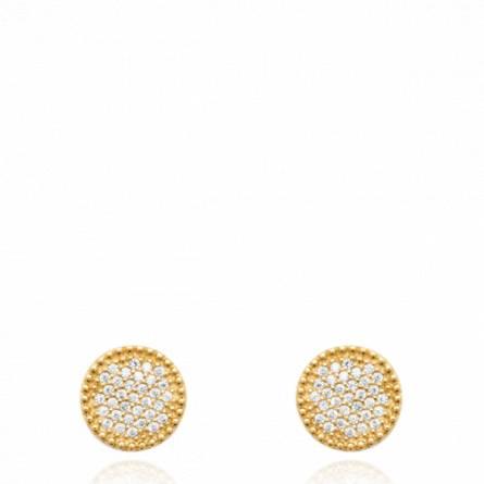 Boucles d'oreilles femme plaqué or Arquia ronde